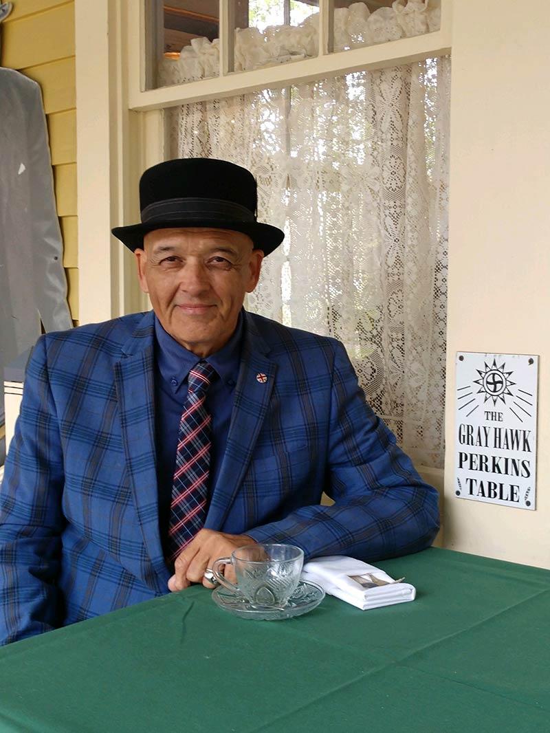 Grayhawk Perkins , Indigenous Symposium, Houma & Choctaw